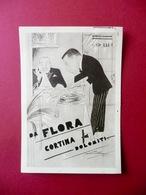 Cartolina Albergo Ristorante Flora Cortina D'Ampezzo Dolomiti 1937 Viaggiata - Advertising