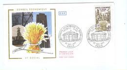 FRANCE  FDC  1977  Ble Mine Conseil Economique Agriculture - Agriculture