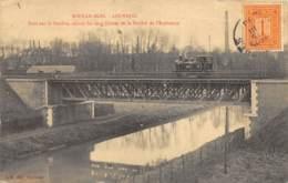 Sous-le-Bois - Louvroil - Animée, Train - Pont Sur La Sambre Reliant Les Deux Usines De L'Espérance - Maubeuge