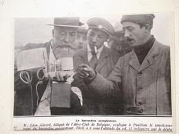 Aéro-Club De Belgique - Premier Baromètre Enregistreur De Léon Gérard Avec Paulhan -  Coupure De Presse De 1909 - GPS/Radios