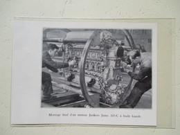 Allemagne - Montage Moteur Junkers Pour Hydravion à Huile Lourde -  Coupure De Presse De 1936 - GPS/Aviación