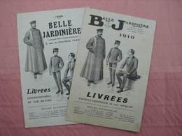 """BELLE  JARDINIERE Catalogue 1909 Et 1910 """" Livrées Sur Mesures; Garçons D'écurie,conducteurs Auto, Etc...TBE - He"""
