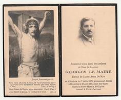 Décès Georges LE MAIRE époux Anna De Nys Roubaix 1879 Bruxelles 1931 - Images Religieuses