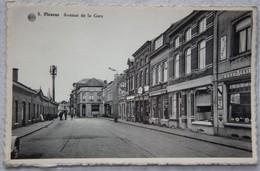 CPA FLEURUS Avenue De La Gare Commerces Café Publicité Bière Wiels - Fleurus