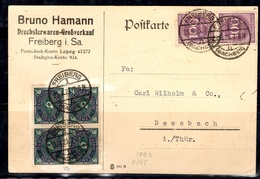 Allemagne/Reich Belle Carte Postale De 1923. Affranchissement Multiple. B/TB. A Saisir! - Deutschland