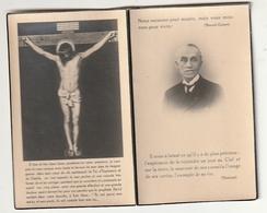 Décès René QUINET Veuf Marguerite Huart Congréganiste Conseil Fabrique Sainte Waudru Mons 1870 - 1940 Inhumé Casteau - Images Religieuses