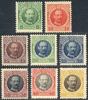 DANISH ANTILLES: Sc.43/50, 1908 Frederik VIII, Complete Set Of 8 Unused Values, VF Quality, Catalog Value US$100+ - Danimarca (Antille)
