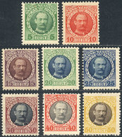 DANISH ANTILLES: Sc.43/50, 1908 Frederik VIII, Complete Set Of 8 Unused Values, VF Quality, Catalog Value US$100+ - Denmark (West Indies)