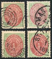 DANISH ANTILLES: Sc.5 + 5e, 4 Used Examples, VF Quality! - Danimarca (Antille)