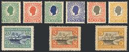 DANISH ANTILLES: Sc.31/39, 1905 Complete Set Of 9 Values, Mint Original Gum, Fine Quality! - Denmark (West Indies)