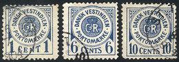 DANISH ANTILLES: Sc.J1 + J3 + J4, 1902 3 Values Of The Set, Used, VF Quality! - Danimarca (Antille)