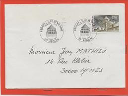 M39 COURRIER CACHET MANUEL + TIMBRES  REDON 7/3/1987 - Marcophilie (Lettres)