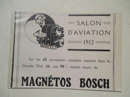 Aviation Magnétos BOSCH Pour Aéroplane - Coupure De Presse De 1912 - GPS/Aviación