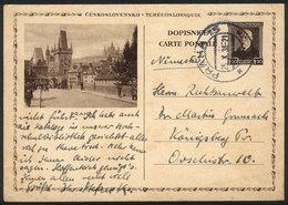 CZECHOSLOVAKIA: Postal Card Illustrated With View Of PRAHA, Used On 25/OC/1936, VF Quality! - Czechoslovakia