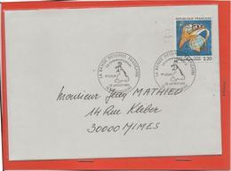 M39 COURRIER CACHET MANUEL + TIMBRE LA BANDE DESSINEE FRANCAISE 23/1/1988 - Marcophilie (Lettres)