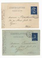 Guerre 14-18 2 Cartes Lettres Avec Longue Correspondance Secteur Postal 117 Du 18 Juin Et 20 Juillet 1915 - Guerre De 1914-18