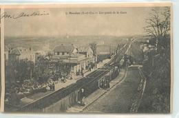 CPA TRANSPORTS CHEMIN DE FER MEUDON LES QUAIS DE LA GARE  1903 N°1 F.POUYDEBAT VOIR IMAGES - Stations Without Trains