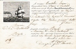 1842 - Connaissement MARSEILLE-NAPLES Pour Mr Ch. De ROTHSCHILD - Papiers De Commerce Et Titres Valeur 15.000 F - Historische Documenten