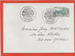 M39 COURRIER CACHET MANUEL + TIMBRE VIENNE 19/01/1986 - Marcophilie (Lettres)