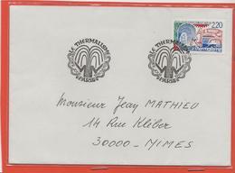 M39 COURRIER CACHET MANUEL + TIMBRE LE THERMALISME 19/11/1988 - Marcophilie (Lettres)