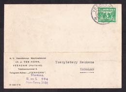 Netherlands: Postcard, 1943, 1 Stamp, Cancel Veendam (minor Damage, See Scan) - Periode 1891-1948 (Wilhelmina)