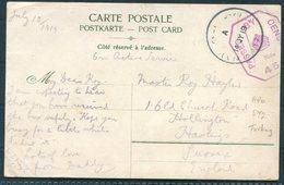 1919 GB Turkey Postcard - Hollington Hastings. O.A.S. Army Post Office SY2, Censor - 1902-1951 (Re)