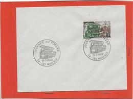 M39 COURRIER CACHET MANUEL + TIMBRE LA JOURNEE DU TIMBRE TRANSPORT DES FACTEURS 78 LE MUREAU 15/03/1969 - Marcophilie (Lettres)