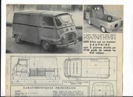 L Automobile 4p Dont 2P Essai Photos RENAULT ESTAFETTE Juillet 1959-34x27-cm Miniat - LKW