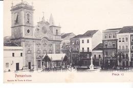 Cpa Old Pc Brésil Pernambuco Praca 17 Vierge - Recife