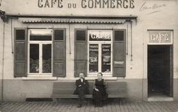 3-   GEMBLOUX. CARTE PHOTO Café Ch. De Wavre.  Prés De Beuzet, Lonzée Et Ernage. Postée 1909 - Gembloux