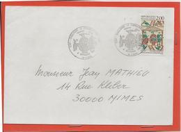 M39 COURRIER CACHET MANUEL + TIMBRE  GUILLAUME LE CONQUERANT 5/9/1987 - Marcophilie (Lettres)