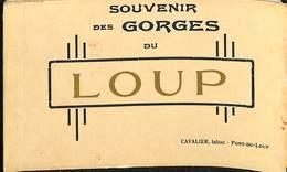 CPA - France - (06) Alpes Maritimes  - Souvenir Des Gorges Du Loup - 10 Cartes Photos - Altri Comuni