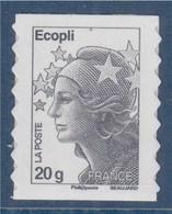 = Marianne Beaujard Autocollant Boutique Pro Ecopli, Avec Phosphore, N° 591 Autoadhésif Neuf - KlebeBriefmarken