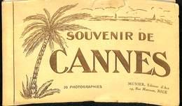 CPA - France - (06) Alpes Maritimes - Souvenir De Cannes - 20 Photographies - Munier - Cannes
