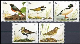 1972Fujairah1356-1360European Birds5,00 € - Segler & Kolibris