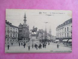 CPA BELGIQUE ANVERS LA STATUE DE LEOPOLD 1ER ANIMEE - Antwerpen