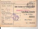 POSTE DES PRISSONIERS DE GEURRE  CROIX - ROUGE  FRANCAISE - Documents