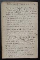 Manuscrit Religieux De 40 Pages étude Sur Le Psautier De La Bezette, étude De L'hébreu, Par Un Prêtre Des Années 1940 - Religion & Esotérisme