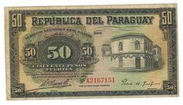 Paraguay, 50 Pesos, P-151a. F/VF. Rare. - Paraguay