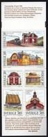 Sweden 1996 / Swedish Houses, Architecture, Train, Sheep / MNH / Mi 1937-1942, Booklet MH 214 - Suède