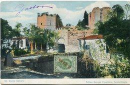 LEVANT CARTE POSTALE -PORTE SELIVRI DEPART LE 29 XII 05 POUR LA FRANCE - Levant