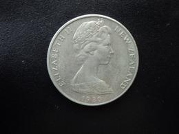 NOUVELLE ZÉLANDE : 20 CENTS   1980 (o)    KM 36.1      SUP - Nuova Zelanda