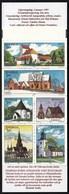 Sweden 1997 / Swedish Houses, Architecture, Churches / MNH / Mi 1976-1981, Booklet MH 223 - Suède