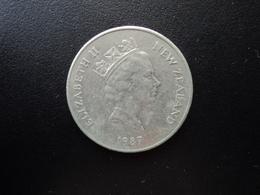 NOUVELLE ZÉLANDE : 20 CENTS   1987 (o)    KM 62        SUP * - Nuova Zelanda