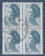 = Liberté De Gandon, Bloc De 4 Oblitéré 5.00; N°2190, - 1982-90 Liberté De Gandon