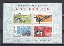 Vietnam Nord 1964 - 10th Anniversary Of The Battle Of Dien-Bien-Phu, Mi-Nr. Bl. 9, MNH** - Vietnam
