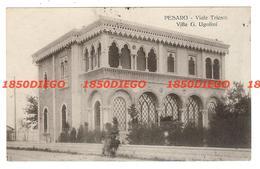 PESARO - VIALE TRIESTE - VILLA G. UGOLINI  F/PICCOLO VIAGGIATA 1925? ANIMATA - Pesaro