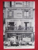 """77 - FONTAINEBLEAU - """" RESTAURANT DE LA SALAMANDRE - 76 RUE GRANDE """" - TRES BELLE CARTE - - Fontainebleau"""