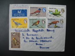 Lettre Thème  Animaux  Oiseaux Ile Maurice    Pour La Sté Générale En France Bd Haussmann Paris - Mauritius (1968-...)
