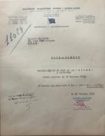 Société Maritime Nord-Africaine - Armements - Affrètements - Quai Noël-Guignon Sète Le 19.10.1953 - Invoices & Commercial Documents